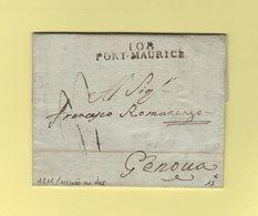 Port Maurice - 108 - 1811 - Marque D Arrivee 18 Fevrier - Departement Conquis De Montenotte - 1792-1815: Conquered Departments