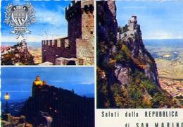 Saluti Dalla Repubblica Di San Marino - Formato Grande Viaggiata Mancante Di Affrancatura – E 9 - San Marino