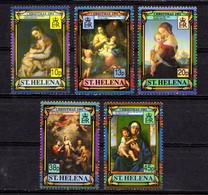SAINT  HELENA    1991    Christmas    Set  Of  5    MNH - Saint Helena Island