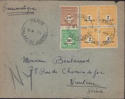 Pneumatique YT 706 707 709 X4 CAD Paris Palais Justice  Dos Neuilly S Seine Puis Nanterre 13 2 45 - Enteros Postales