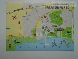 D163191 Map Carte - Balaton Balatonfüred  Hungary - Landkaarten