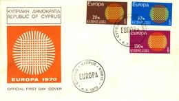 1970 - CIPRO - EUROPA - BUSTA FDC.+3 - Cipro (Repubblica)