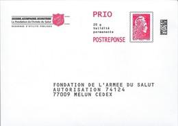 FONDATION DE L'ARMEE DU SALUT  - Marianne L'engagée D'Yseul - Port Payé Par Le Destinataire : 204377. - Entiers Postaux