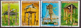PAPUA NEW GUINEA 1985 SG #496-99 Compl.set Used Ceremonial Structures - Papua New Guinea