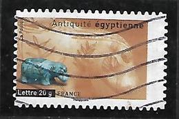 A297  Adhésif Antiquité Egyptienne N°104 Obl. Variété Dentelure Décalée à Droite - Adhésifs (autocollants)