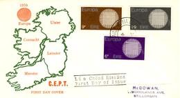 1970 - IRLANDA - EUROPA - BUSTA FDC.+3 - FDC