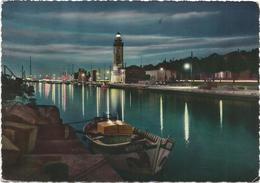 W2483 Rimini - Il Porto - Panorama Notturno Notte Nuit Night Nacht Noche / Viaggiata 1962 - Rimini