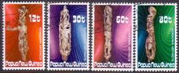 PAPUA NEW GUINEA 1985 SG #512-15 Compl.set Used Wood Carvings - Papua New Guinea