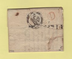 Asti - 106 -1812 - Mairie De Mont Grosso - Marque D Arrivee 1 En Rouge Pour Janvier - Italy