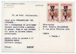 DEAR DOCTOR TYPE PUBL. PELARGON ROSSO-NESTLE' / MAURITANIA/MAURITANIE RETOUR DE PECHE - Mauritania