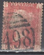 Great Britain 1858-79 - Queen Victoria, 1d Red - Mi.16 Plate 195 - Used - 1840-1901 (Victoria)