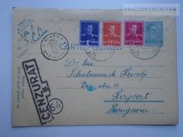D163200 Romania Carte Postala - Cenzurat 8   - Fratelia Kispest - Ellenőrizve - PEKIR Hungary  1941 - 2de Wereldoorlog (Brieven)