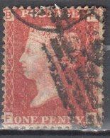 Great Britain 1858-79 - Queen Victoria, 1d Red - Mi.16 Plate 196 - Used - 1840-1901 (Victoria)