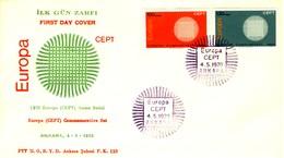 1970 - TURCHIA - EUROPA - BUSTA FDC.+3 - 1921-... Repubblica