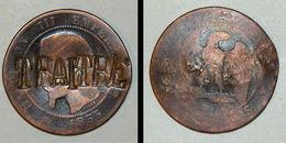 SATIRIQUE - 10 Ct 1855 Napoleon III - RARE ! Monnaie Napoleon 3 TRAITRE CONTREMARQUE Militaria Curiosa Satyrique - France