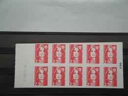 1990 France  Yv Carnet 2630 - C2 - C ** MNH  Découpe Oblique Michel 2755   Marianne - Varietà: Blocchi