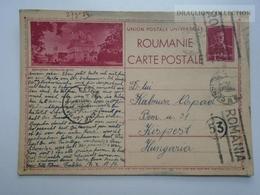 D163209 Romania Carte Postala Monastere  - Fratelia -Timisoara Cenzura Externa -  Ellenőrizve-PEKIR Kispest Hungary 1942 - 2de Wereldoorlog (Brieven)