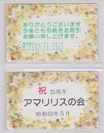 LOT De 2 Télécartes Japon / MD 110-35 - FLEUR - ORCHIDEE - ORCHID FLOWER Japan Phonecards * NTT * -  2450 - Flowers