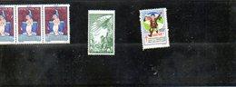 3874 - Lot De 5 Vignettes Tuberculose 1937 (sg)et 3 De 1931 (G) - 10fr Pour Nos Victimes De Guerre ( Gomme Et Pliée ) - Vignettes De Fantaisie