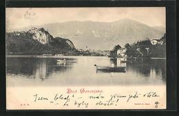 AK Bled / Veldes, Ruderpartie Mit Blick Auf Den Ort - Slowenien