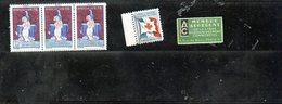 3875 - Lot De 5 Vignettes Tuberculose  3 De 1931  - Ligue Assainissement - Secours Blesses Militaires - Vignettes De Fantaisie