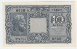 ITALY 10 Lire 1935 (1944) UNC NEUF Pick 32b 32 B - Italia – 10 Lire