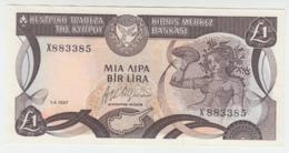 Cyprus 1 Pound 1987 UNC Pick 53a - Chypre