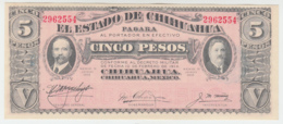 MEXICO 5 PESOS 1914 AUNC+ Pick S535 - Mexico
