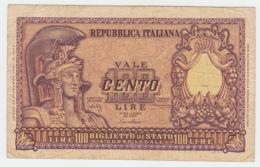ITALY 100 Lire 1951 VG-F Pick 92a 92 A - [ 2] 1946-… : Republiek