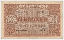 Denmark 10 Kroner 1944 AVF Pick 36a  36 A - Denmark