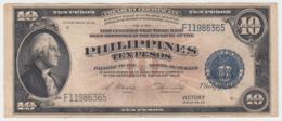 Philippines 10 Pesos 1944 AVF+ CRISP Banknote Pick 97 - Philippinen