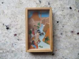 Jeu D'adresse Publicitaire En Bois à Bille -  Buffalo Grill - Decor Far Ouest Vitre Plexi Glass - Other Collections