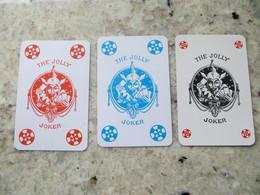 Lot De 3 Carte JOKER The Jolly Rouge Bleue Noire Dont 1 Bridgeur - Other Collections