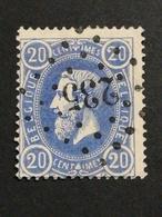 COB N ° 31 Oblitération L 235 (Marbais) - 1869-1883 Léopold II