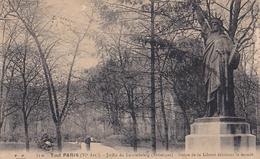 PARIS  Jardin Du Luxembourg Statue De La Liberté - Parcs, Jardins