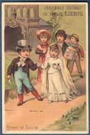 Chromo Liebig S 105 Litho Testu Et Massin Love Story Histoire D'amour Mariage Noce Cortège Hymen Et Félicité - Liebig