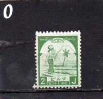 JAPANESE OCCUPATION 1943 2c MNH - Burma (...-1947)