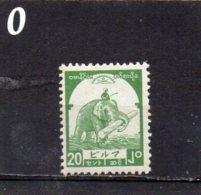 JAPANESE OCCUPATION 1943 20c MNH - Burma (...-1947)