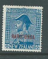 Cook Islands 1926 2 Shilling Admiral Overprint Fine Mint, HR - Cook