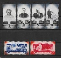 Russia/USSR 1934,Decade W/O LENIN,Scott # 540-545,VF Mint Hinged*OG (RU-3) - Ongebruikt