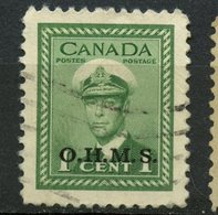 Canada 1950 1 Cent King George VI War OHMS Issue  #O1 - Officials