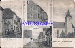 110533 GERMANY GRUSS AUS UNTEREISENHEIM MULTI VIEW BREAK POSTAL POSTCARD - Duitsland