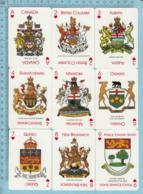 13 Cartes, Heraldique, Crest, écussons Et Motto Des 12 Provinces/territoires Et Celui Du Canada - Cartes à Jouer Classiques