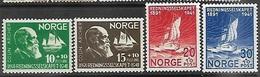 Norway   1941   Sc#B20-3  Lifeboat Charities Set   MH    2016 Scott Value $8.50 - Norwegen