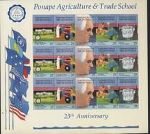 MICRONESIE 1990 FEUILLET ECOLE D'AGRICULTURE YVERT N°141/45 NEUF MNH** - Micronésie