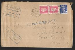 France Lettre  Du 19 01 1946 En Recommandé De Pornichet Pour Courbevoie - France