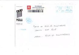LETTRE DE MAIRIE DE MILLAU AVEYRON - Postmark Collection (Covers)