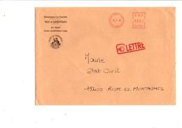 LETTRE DE MAIRIE DE LANDIVISIAU FINISTERE - Postmark Collection (Covers)