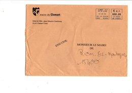 LETTRE DE MAIRIE DE CLAMART HAUTS DE SEINE - Marcophilie (Lettres)