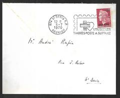 Réunion   Lettre   Du  06   07 1970   Pour  Saint Denis - Reunion Island (1852-1975)